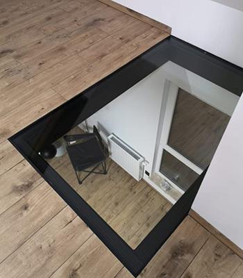 Podłoga szklana